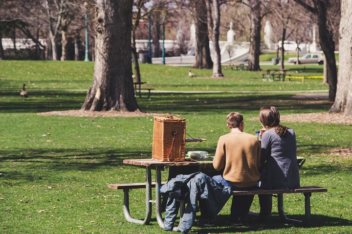 couple enjoying in the park