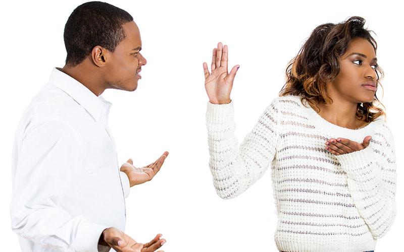 women rejecting bald man